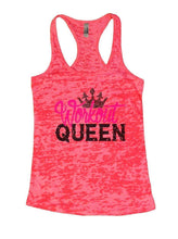Workout QUEEN Burnout Tank Top By Womens Tank Tops Small Womens Tank Tops Shocking Pink