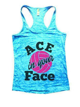ACE In Your Face Burnout Tank Top By Womens Tank Tops Small Womens Tank Tops Tahiti Blue