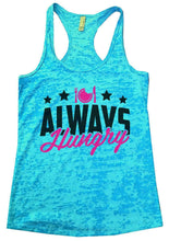 ALWAYS Hungry Burnout Tank Top By Womens Tank Tops Small Womens Tank Tops Tahiti Blue