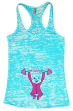 Baby Weightlifting Burnout Tank Top By Womens Tank Tops Small Womens Tank Tops Tahiti Blue
