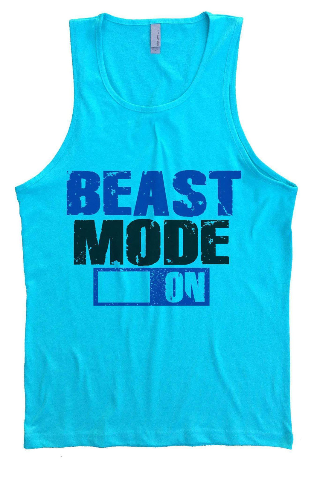 Beast Mode On Mens Tank Top By Womens Tank Tops Small Womens Tank Tops Tahiti Blue