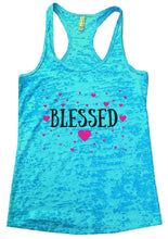 BLESSED Burnout Tank Top By Womens Tank Tops Small Womens Tank Tops Tahiti Blue