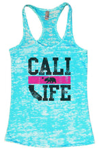 CALI LIFE Burnout Tank Top By Womens Tank Tops Small Womens Tank Tops Tahiti Blue