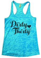Dirty Thirty Burnout Tank Top By Womens Tank Tops Small Womens Tank Tops Tahiti Blue