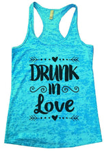 DRUNK In Love Burnout Tank Top By Womens Tank Tops Small Womens Tank Tops Tahiti Blue