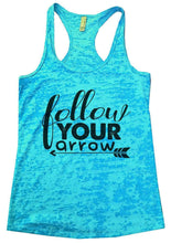 Follow Your Arrow Burnout Tank Top By Womens Tank Tops Small Womens Tank Tops Tahiti Blue