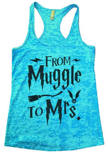 FROM Muggle To Mrs. Burnout Tank Top By Womens Tank Tops Small Womens Tank Tops Tahiti Blue