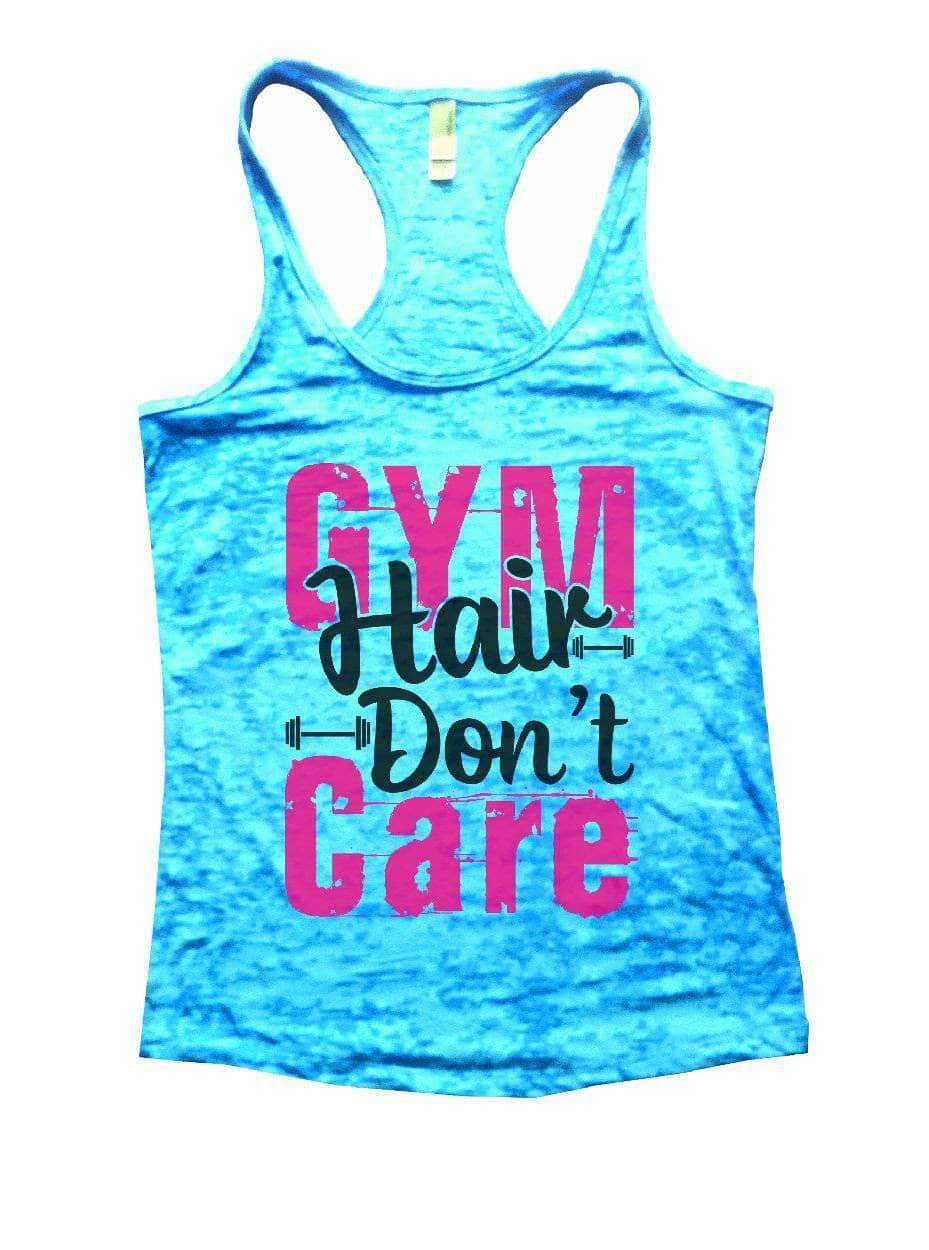 GYM Hair Don't Care Burnout Tank Top By Womens Tank Tops Small Womens Tank Tops Tahiti Blue