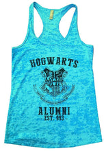 HOGWARTS ALUMNI - EST. 993 - Burnout Tank Top By Womens Tank Tops Small Womens Tank Tops Tahiti Blue