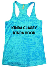 KINDA CLASSY KINDA HOOD Burnout Tank Top By Womens Tank Tops Small Womens Tank Tops Tahiti Blue
