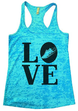 LOVE Burnout Tank Top By Womens Tank Tops Small Womens Tank Tops Tahiti Blue