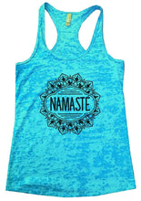 NAMASTE Burnout Tank Top By Womens Tank Tops Small Womens Tank Tops Tahiti Blue