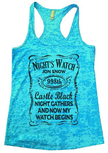 NIGHT'S WATCH JON SNOW Burnout Tank Top By Womens Tank Tops Small Womens Tank Tops Tahiti Blue
