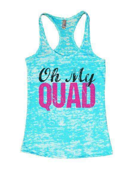Oh My Quad Burnout Tank Top By Womens Tank Tops Small Womens Tank Tops Tahiti Blue