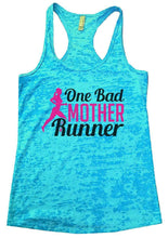 One Bad MOTHER Runner Burnout Tank Top By Womens Tank Tops Small Womens Tank Tops Tahiti Blue