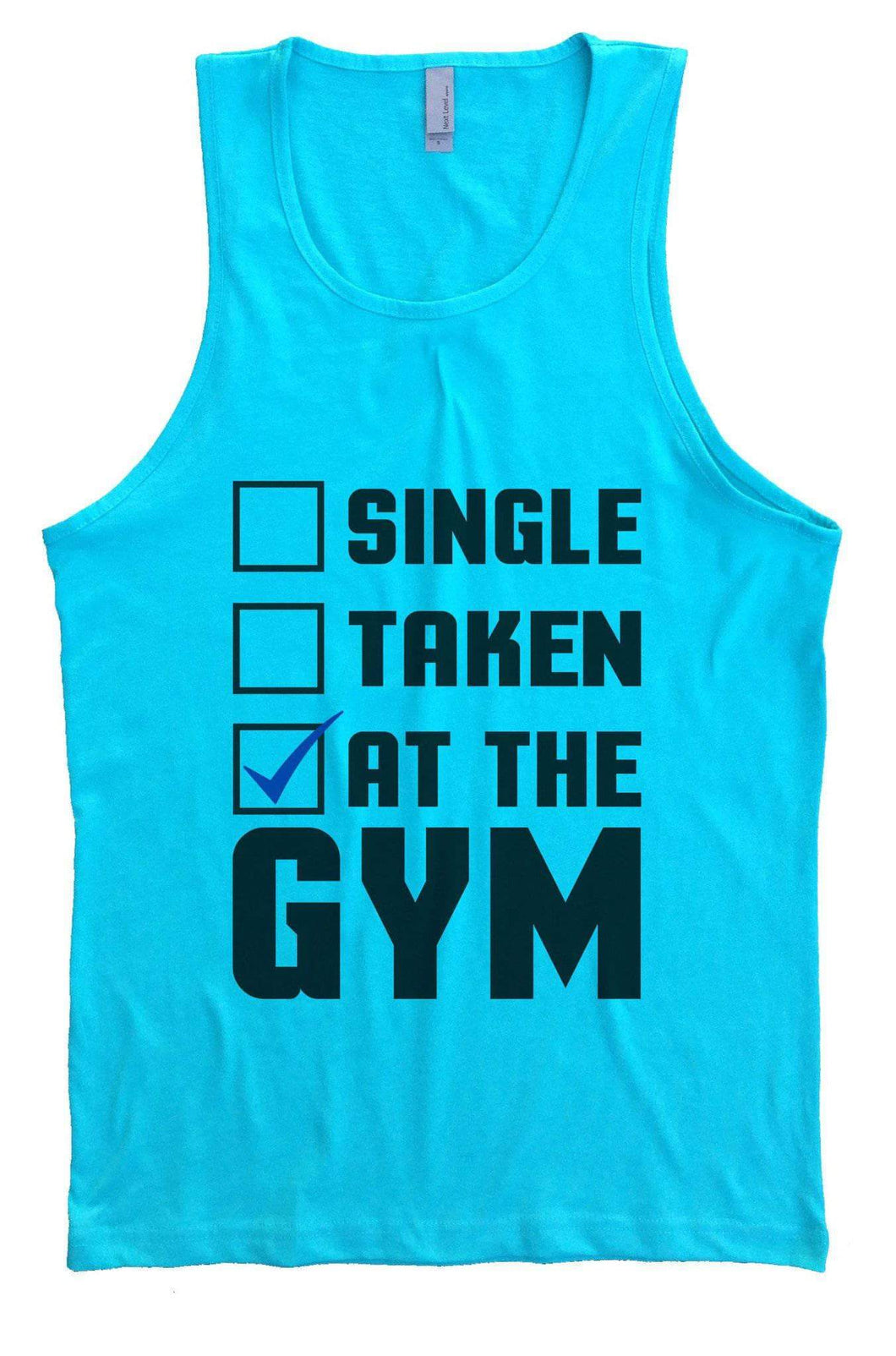 Single Taken At The GYM Mens Tank Top By Womens Tank Tops Small Womens Tank Tops Tahiti Blue