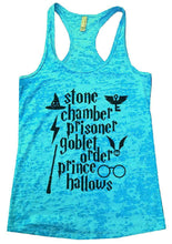 Stone Chamber Prisoner Goblet Order Prince Hallows Burnout Tank Top By Womens Tank Tops Small Womens Tank Tops Tahiti Blue