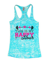 THIS IS MY HAPPY Hour Burnout Tank Top By Womens Tank Tops Small Womens Tank Tops Tahiti Blue