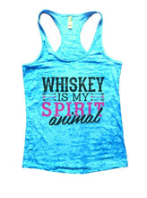 WHISKEY IS MY SPIRIT Animal Burnout Tank Top By Womens Tank Tops Small Womens Tank Tops Tahiti Blue