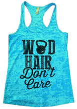 WOD HAIR Don't Care Burnout Tank Top By Womens Tank Tops Small Womens Tank Tops Tahiti Blue