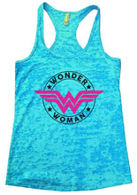 WONDER WOMAN Burnout Tank Top By Womens Tank Tops Small Womens Tank Tops Tahiti Blue
