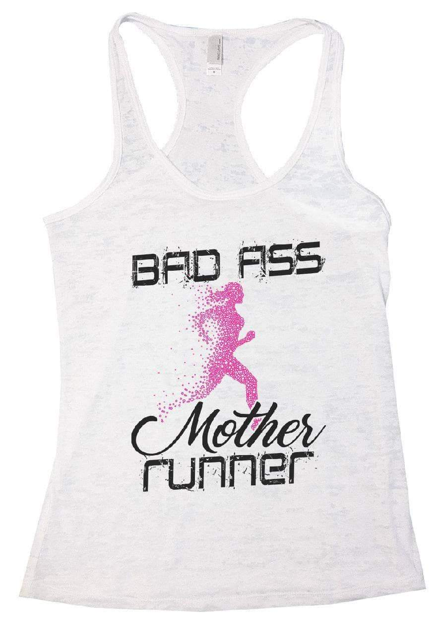 BAD ASS Mother Runner Burnout Tank Top By Womens Tank Tops Small Womens Tank Tops White