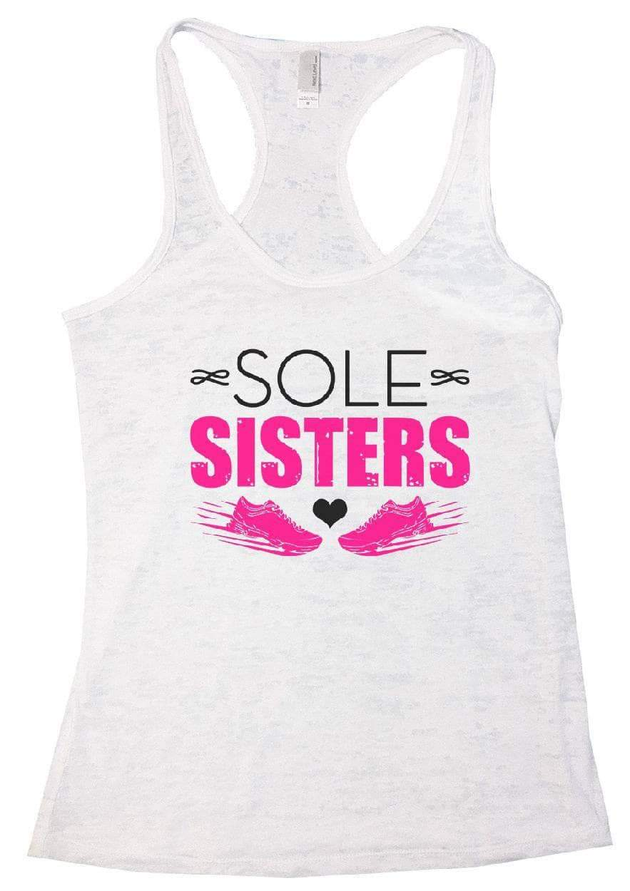 SOLE SISTERS Burnout Tank Top By Womens Tank Tops Small Womens Tank Tops White