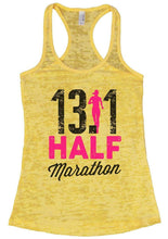 13.1 HALF Marathon Burnout Tank Top By Womens Tank Tops Small Womens Tank Tops Yellow