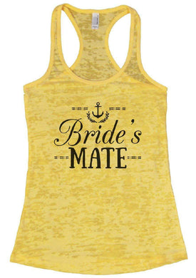 Bride's MATE Burnout Tank Top By Womens Tank Tops Small Womens Tank Tops Yellow
