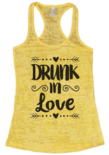 DRUNK In Love Burnout Tank Top By Womens Tank Tops Small Womens Tank Tops Yellow
