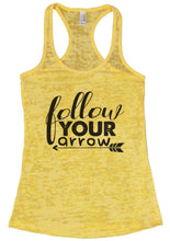 Follow Your Arrow Burnout Tank Top By Womens Tank Tops Small Womens Tank Tops Yellow