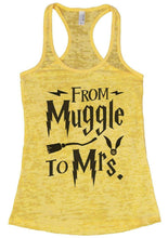 FROM Muggle To Mrs. Burnout Tank Top By Womens Tank Tops Small Womens Tank Tops Yellow