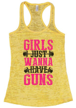 GIRLS JUST WANNA HAVE GUNS Burnout Tank Top By Womens Tank Tops Small Womens Tank Tops Yellow