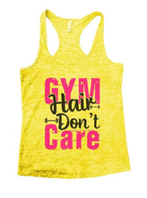 GYM Hair Don't Care Burnout Tank Top By Womens Tank Tops Small Womens Tank Tops Yellow