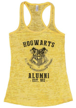 HOGWARTS ALUMNI - EST. 993 - Burnout Tank Top By Womens Tank Tops Small Womens Tank Tops Yellow