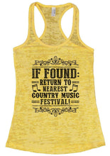 IF FOUND: RETURN TO NEAREST COUNTRY MUSIC FESTIVAL! Burnout Tank Top By Womens Tank Tops Small Womens Tank Tops Yellow