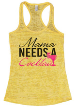 Mama Needs A Cocktail Burnout Tank Top By Womens Tank Tops Small Womens Tank Tops Yellow