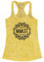 NAMASTE Burnout Tank Top By Womens Tank Tops Small Womens Tank Tops Yellow