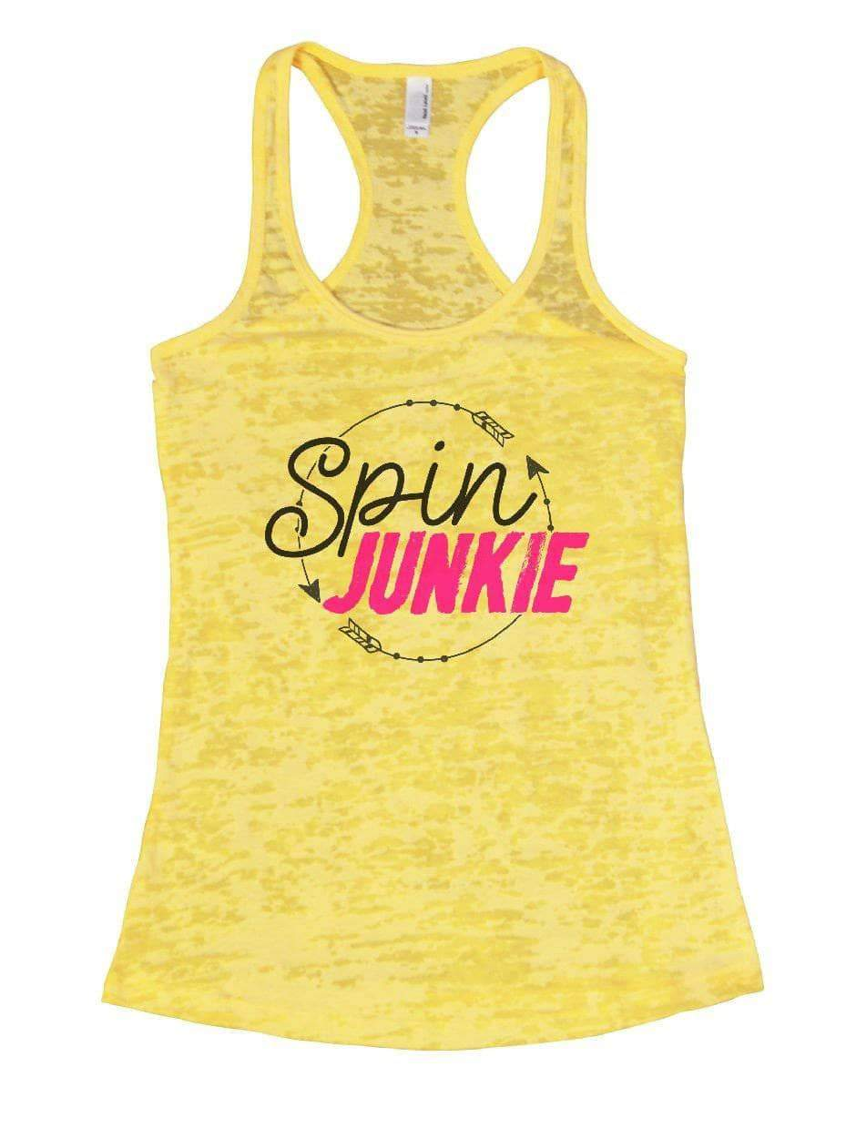 Spin JUNKIE Burnout Tank Top By Womens Tank Tops Small Womens Tank Tops Yellow