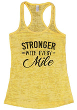 STRONGER WITH EVERY Mile Burnout Tank Top By Womens Tank Tops Small Womens Tank Tops Yellow