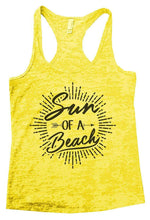 Sun OF A Beach Burnout Tank Top By Womens Tank Tops Small Womens Tank Tops Yellow