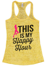 THIS IS MY Happpy Hour Burnout Tank Top By Womens Tank Tops Small Womens Tank Tops Yellow