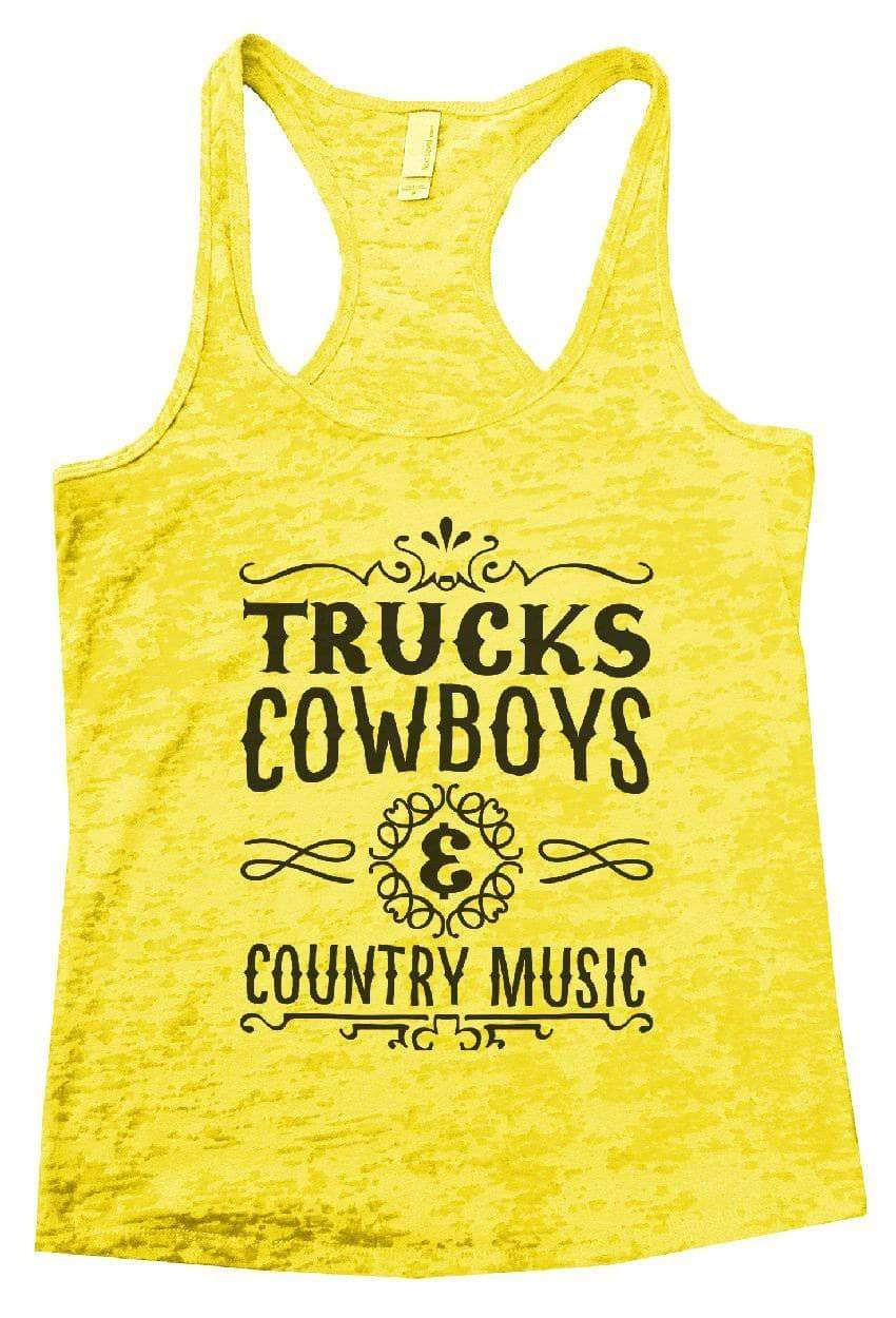 4822fdd36f2bbb TRUCKS COWBOYS   COUNTRY MUSIC Burnout Tank Top By Womens Tank Tops Small Womens  Tank Tops