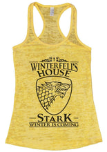 Winterfell's House Stark Winter Is Coming Burnout Tank Top By Womens Tank Tops Small Womens Tank Tops Yellow