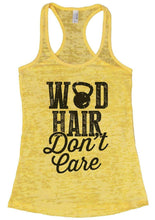 WOD HAIR Don't Care Burnout Tank Top By Womens Tank Tops Small Womens Tank Tops Yellow