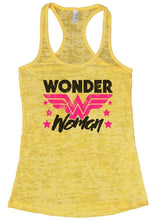 Wonder Woman Burnout Tank Sleeveless Super Hero Graphic Design Tank Small Womens Tank Tops Yellow