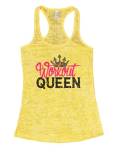Workout QUEEN Burnout Tank Top By Womens Tank Tops Small Womens Tank Tops Yellow