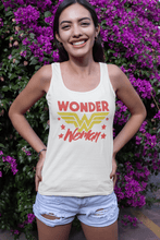 Wonder Woman Burnout Tank Sleeveless Super Hero Graphic Design Tank  Womens Tank Tops