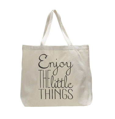 Enjoy The Little Things - Trendy Natural Canvas Bag - Funny and Unique - Tote Bag  Womens Tank Tops
