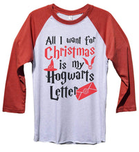 All I Want For Christmas Is My Hogwarts Letter Funny Christmas - Unisex Baseball Tee Mens And Womens  Womens Tank Tops